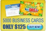 business card offer 5000 for $125